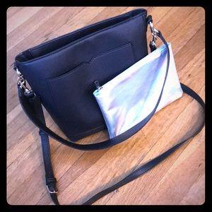 Black Purse w/ FREE Holographic Bag
